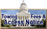 Towing Fees and Access Notice